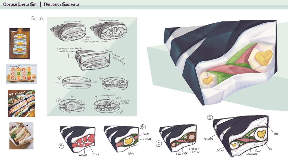 Origami Lunch Set: Onigirazu Sandwich
