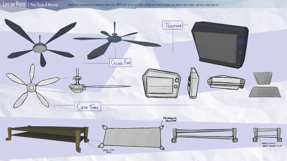 Life on Pause: Prop Design & Modelling