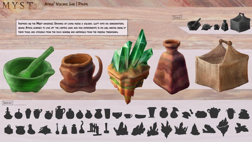 Myst: Atrus' Volcanic Cleft | Props