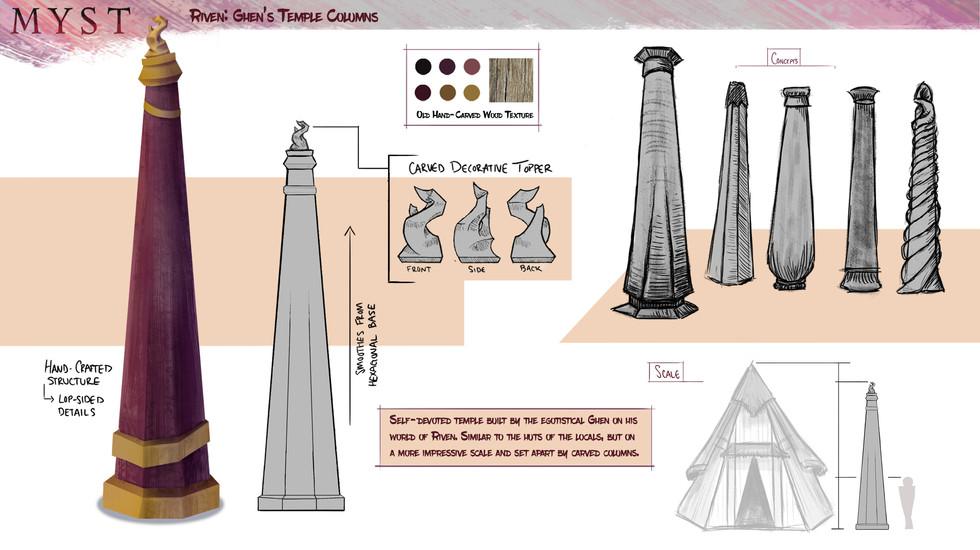 Riven: Ghen's Temple Columns