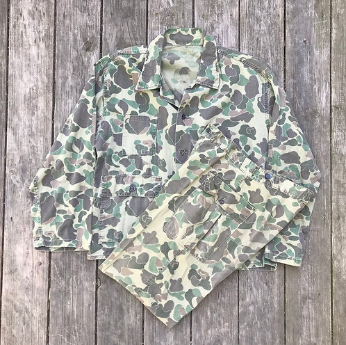 Duck Hunter Pattern Camouflage Uniform With 13 star buttons
