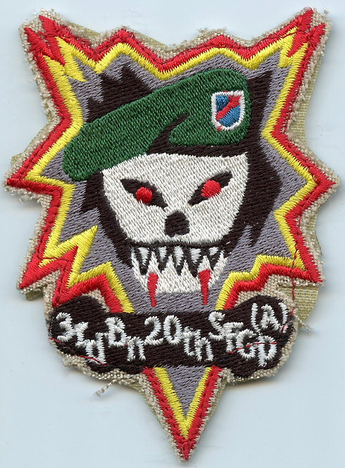 3rd Battalion 20th Special Forces Group Bomb Burst Patch Named