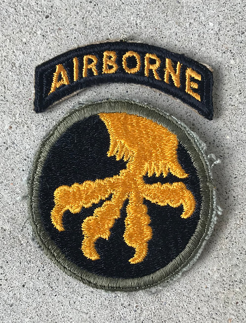 WWII 17th Airborne Division Reversed Claw 2 Piece Patch