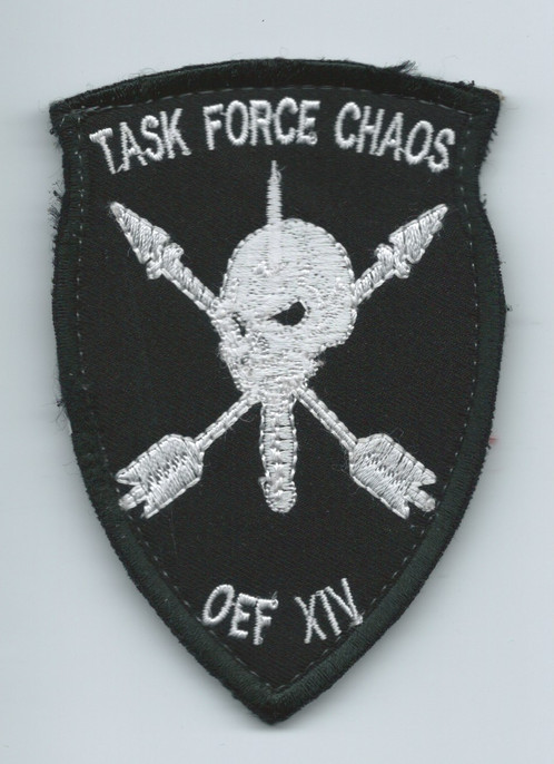 Afghan Made Task Force Chaos 20th Sfg Patch Gwot Patches And