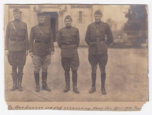 General Duncan And Staff 82nd Division WWI Photograph