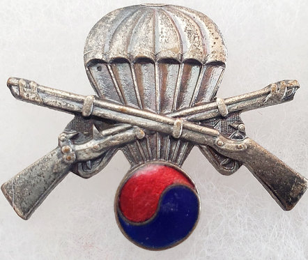 United Nations Partisan Infantry Korea Airborne Infantry Badge