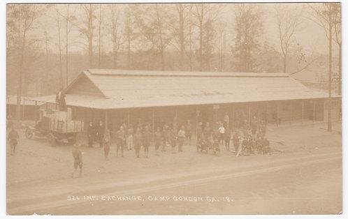 WWI 326th Infantry Exchange Camp Gordon GA 1918 Post Card