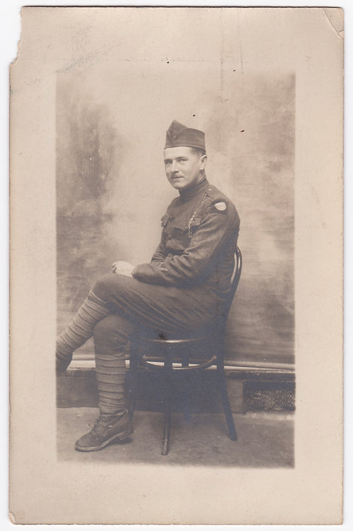 WWI 82nd Division Soldier Monte Carlo Monaco1919
