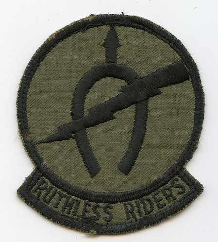 Vietnam War B Troop 17th Air Cavalry Ruthless Riders Patch