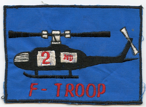Vietnam War F Troop Patch