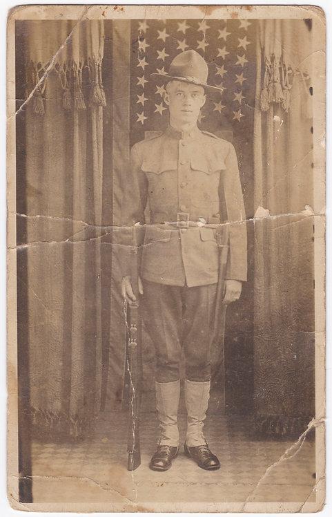 WWI Post Card Photo H.J. Patterson 82nd Division Camp Gordon GA