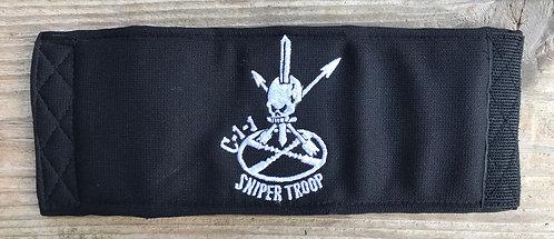 C-1-1 Sniper Troop CIF Machine Embroidered Beer Koozie