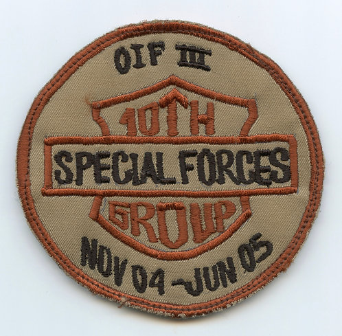 Iraqi Made 10th Special Forces Group OIF III Patch
