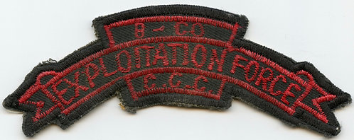 Vietnam War MAC V SOG B CO CCC Exploitation Force Scroll