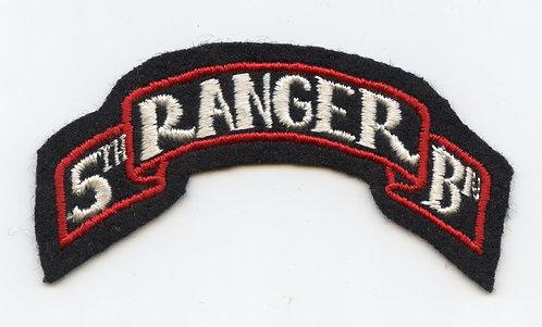 WWII 5th Ranger Battalion Scroll