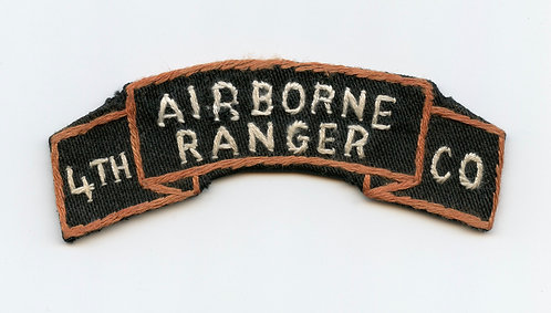 Vietnam War 4th Airborne Ranger Company scroll