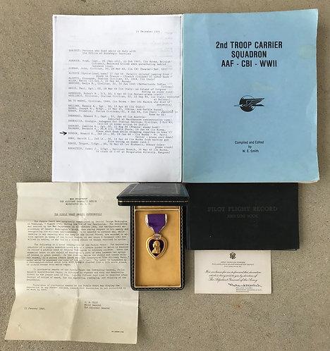 2nd Troop Carrier Squadron Detachment 101 (OSS) KIA Purple Heart Group