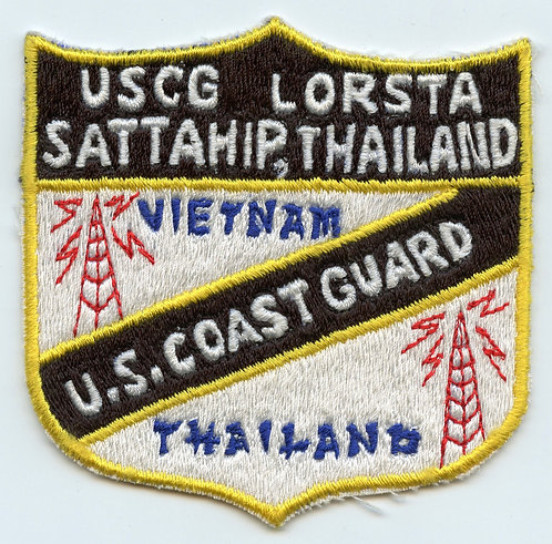 Vietnam War US Coast Guard LORSTA Thailand Patch