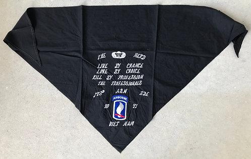 Vietnam War 173rd Airborne Brigade Embroidered Scarf
