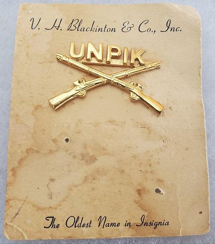 Korean War UNPIK Officers Crossed Rifle Brass Named