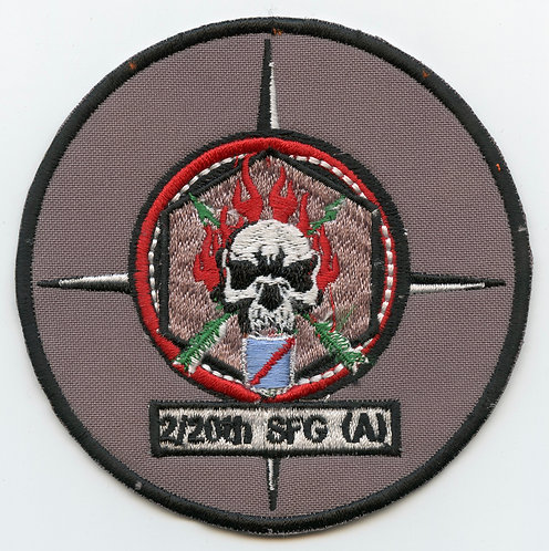 Afghan Made 2nd Battalion 20th SFG Patch