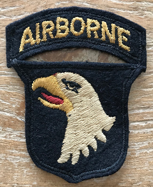 WWII English Made B-1 101st Airborne Division Patch