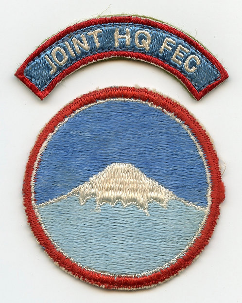 Korean War Joint Headquarters FEC Patch And Tab