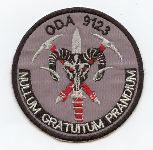 Afghan Made ODA-9123 19th Special Forces Group Patch