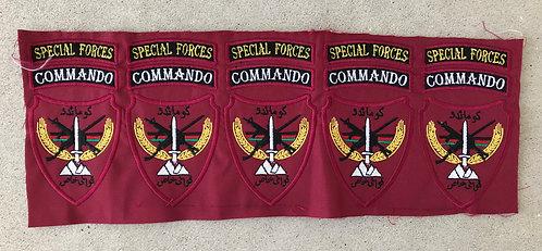 Afghan Special Forces Commando Un Cut Patch Strip