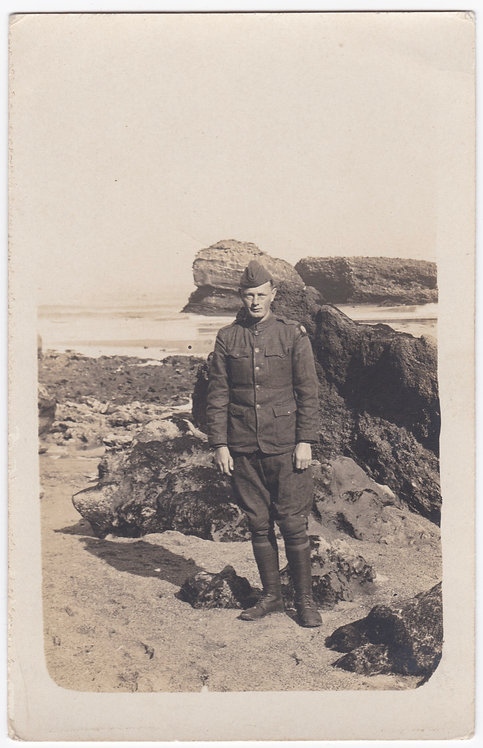 "World War One 82nd Division Soldier 3 1/2"" x 5 1/2"" CARTE POSTALE"