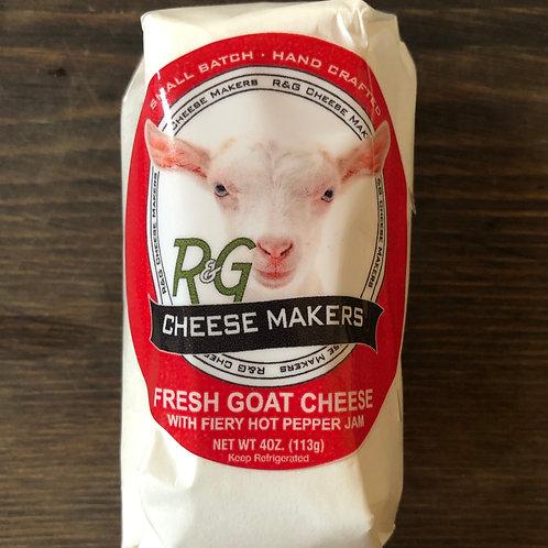 Goat Cheese, Fiery Hot Pepper Jam - R&G
