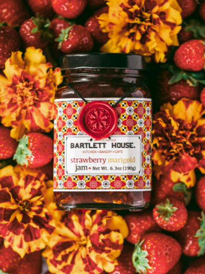 Bartlett House Jam – Strawberry Marigold