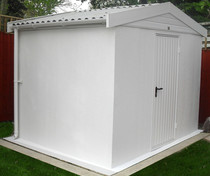 Rendered finish Apex Lidget Compton concrete shed