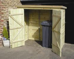 Wooden Bin shed