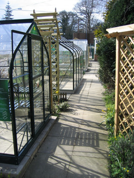 Three Counties show site Display of Greenhouses