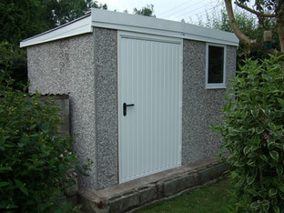 Hanson Knight Shed with spar finish