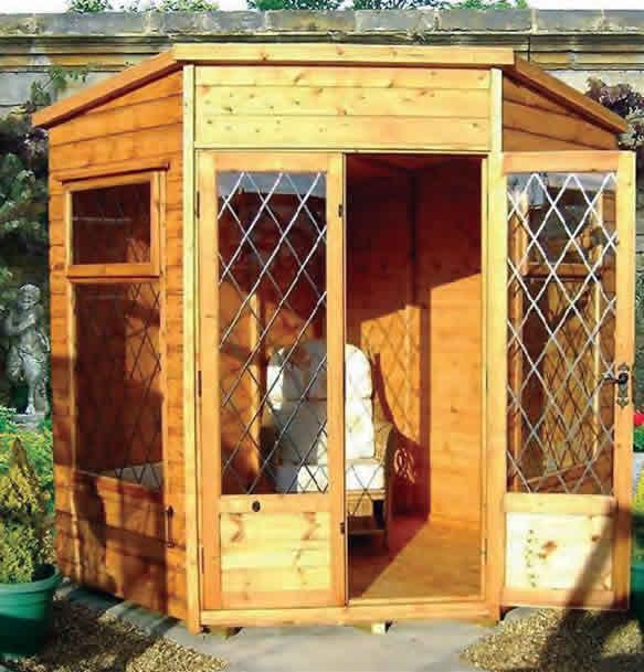 Corner malvern summerhouse