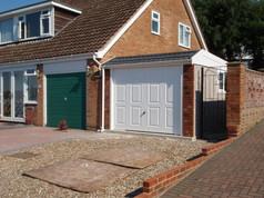 Hanson Spar Duke Garage with Brick front posts