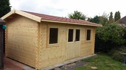 Side Apex Astwood Log cabin (6mx3m)