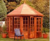 malvern Cedar Summerhouse octagonal