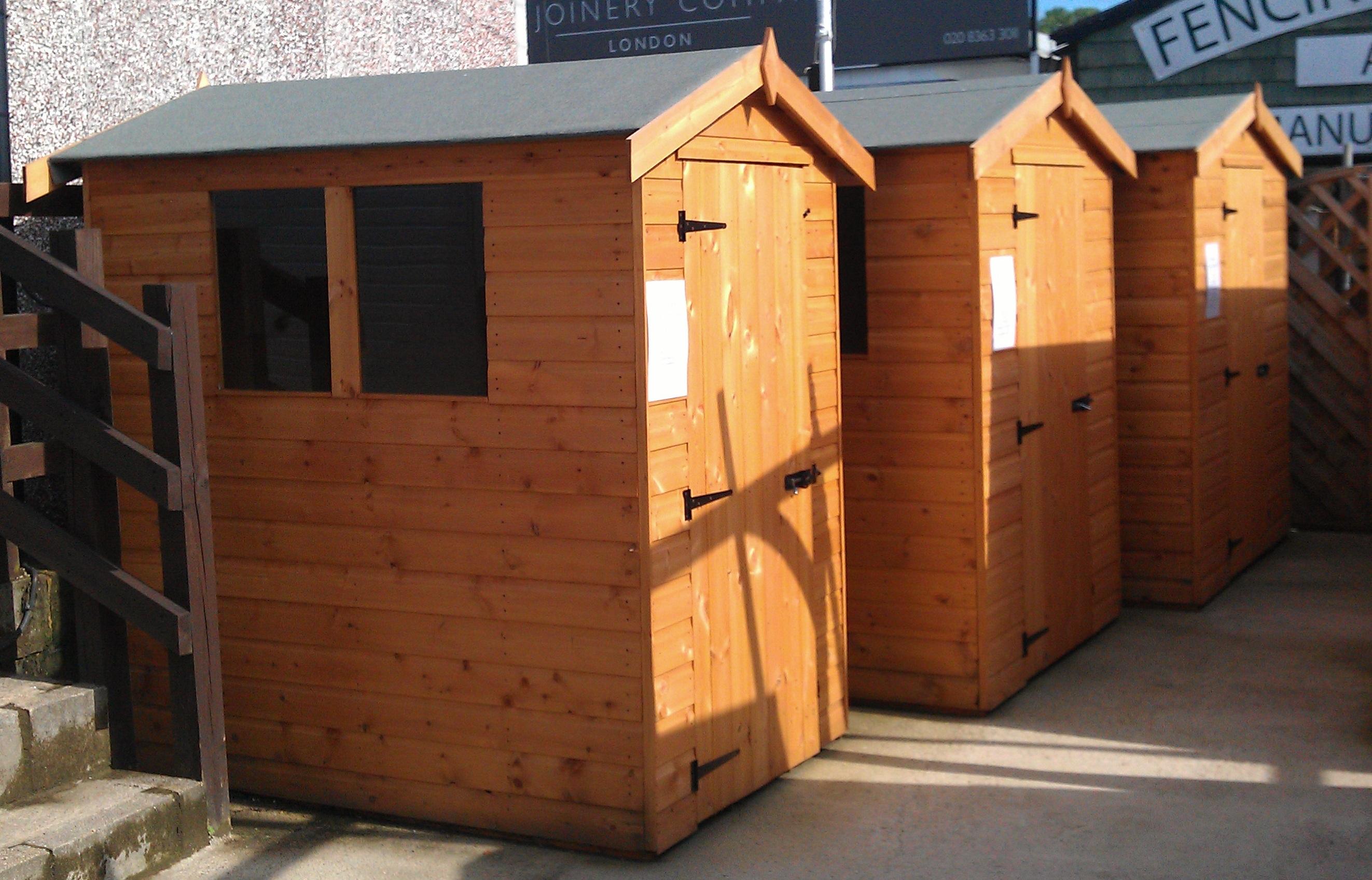 Dennington Apex wooden shed 6x4
