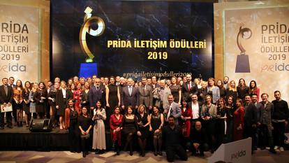 MARKALAR ve İLETİŞİMCİLER 2019'A PRİDA ÖDÜLLERİ İLE BAŞLADILAR