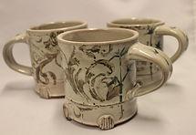 Hand-painted mug, 10 oz, stoneware