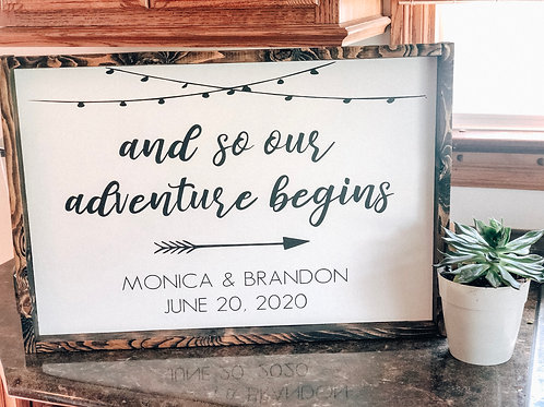 And so our adventure begins- custom names & date