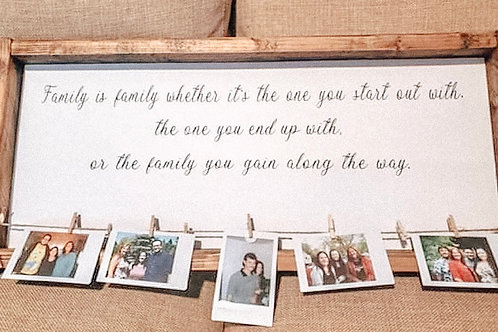 Family is family - with photo clips