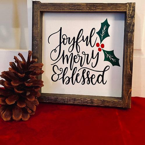 Joyful, merry & blessed Mini