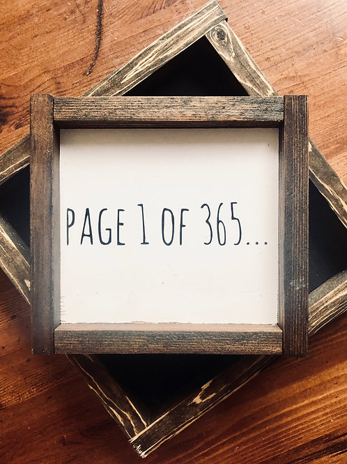 Page 1 of 365 Mini Sign