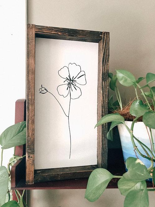 Minimalist Simple Flower