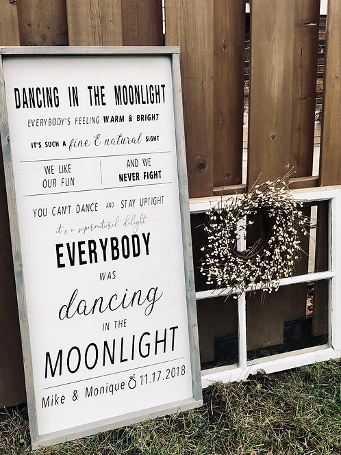 Dancing In The Moonlight love song lyrics