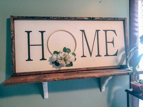 HOME with handmade Wreath